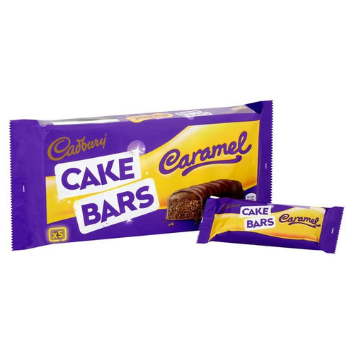 Cadburys Caramel Cake Bars 5 per pack