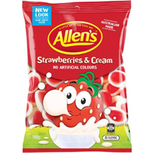Allens Strawberries & Cream 190g