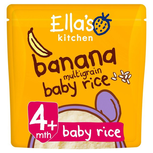 Ella's Kitchen Multigrain Banana Baby Rice 125g