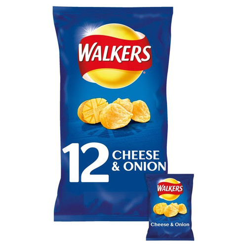 Walkers Cheese And Onion 12 Pack