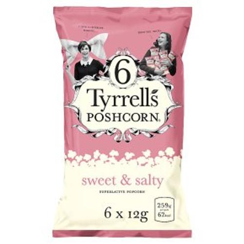 Tyrrell's Poshcorn Sweet & Salty 6x12g