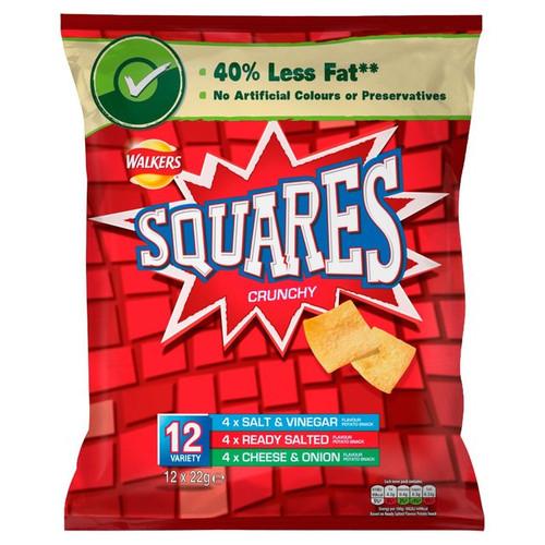 Walkers Squares Variety  12 Pack
