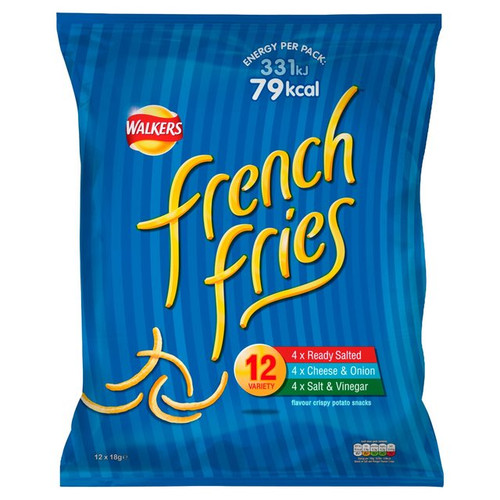 Walkers French Fries Variety  12 X19G