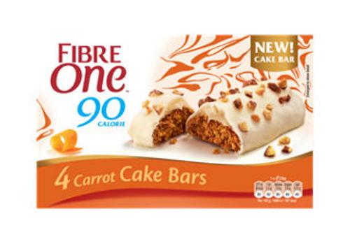 Fibre One 90 Calorie Carrot Cake Bars 4x24g
