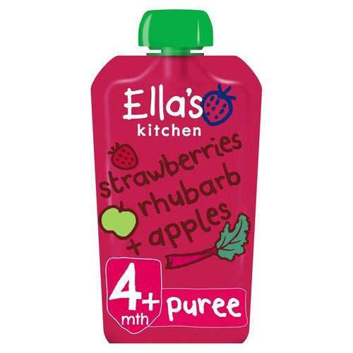 Ella's Kitchen Strawberry Rhubarb Apple From 4 Months 120g