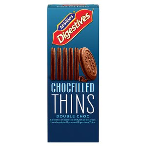 McVitie's Digestives Chocfilled Thins Double Choc 130g