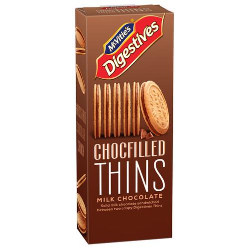 McVitie's Digestives Chocfilled Thins Milk Chocolate 130g