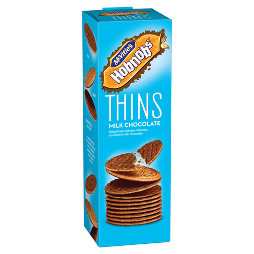 McVitie's Hobnobs Thins Milk Chocolate 180g