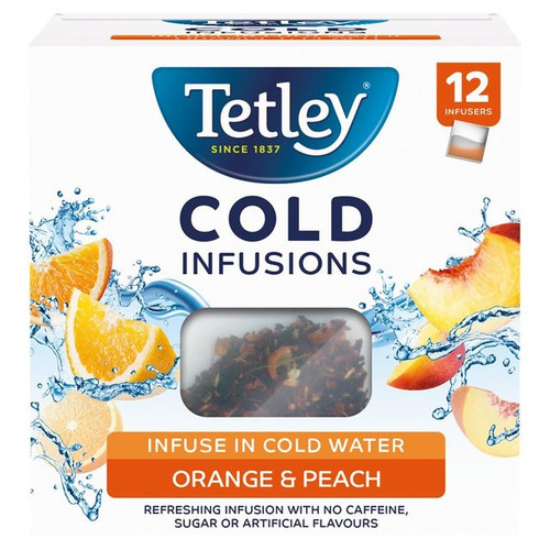 Tetley Cold Infusions Orange & Peach 12s 27g