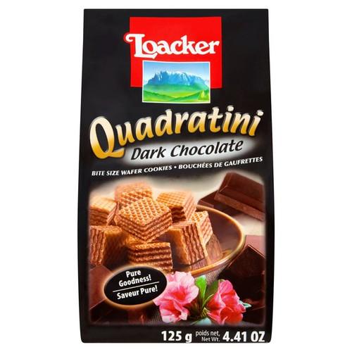 Loacker Dark Chocolate Quadratini 125g