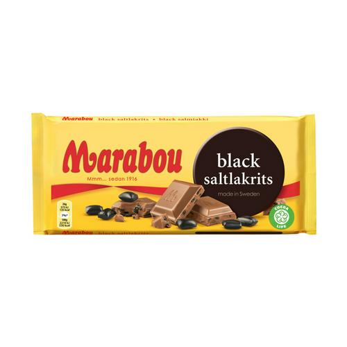 Marabou Black Saltlakrits – Milk Choc with Salty Liquorice 180g