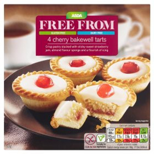 Asda Free From Cherry Bakewells 4 Pack 190g