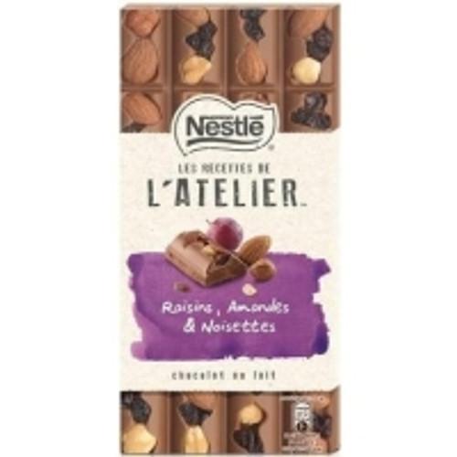 Nestlé Les Recettes de l'Atelier Lait Raisin Amandes 195g