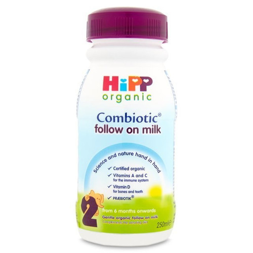 Hipp Organic Combiotic Follow On Milk (2) Ready To Feed 250ml