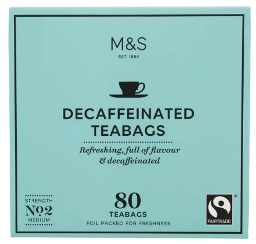 Marks and Spencer Decaffeinated Teabags 80's