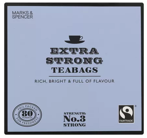 Marks and Spencer Extra Strong Teabags 80's