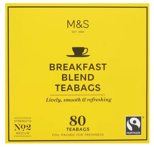 Marks and Spencer Breakfast Blend 80 Teabags