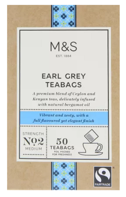 Marks and Spencer Earl Grey Tea Bags 50's