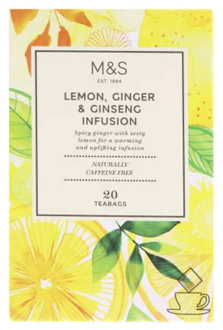 Marks and Spencer Lemon, Ginger & Ginseng Infusion 20's