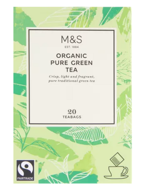 Marks and Spencer Organic Pure Green Tea 20's