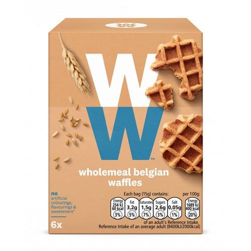 Weight Watchers Wholemeal Belgian Waffles 6 x 15g
