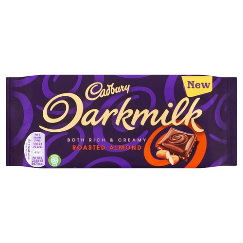 Cadbury Dark Milk Almond 85G