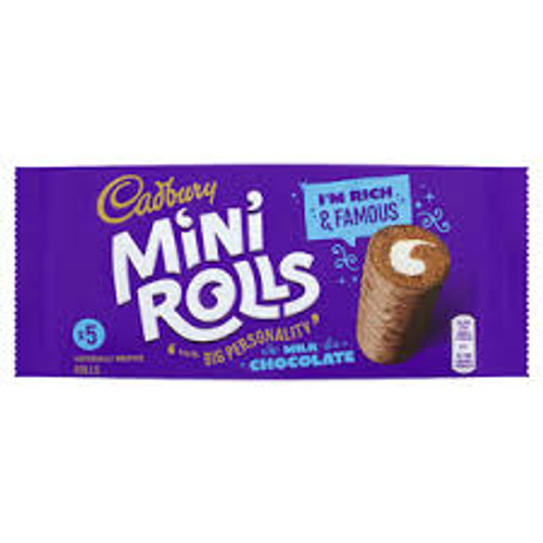 Cadbury Mini Rolls 5per Pack