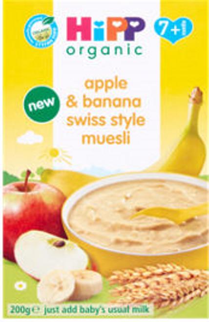 HiPP Organic Apple & Banana Swiss Style Muesli 7+ Months 200g