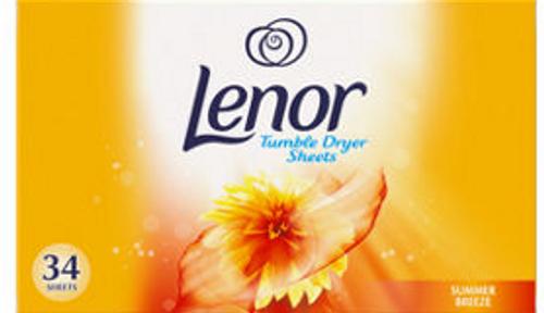 Lenor Fabric Tumble Dryer Sheets Summer Breeze