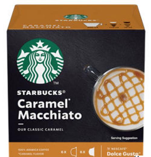 Starbucks Caramel Macchiato Coffee Pods by Nescafe Dolce Gusto 12 Capsules