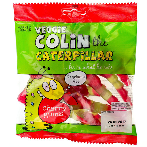 Marks & Spencer Colin The Caterpillar Cherry Gums 170g