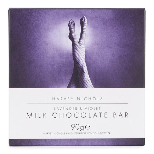 Harvey Nichols Lavender & Violet Milk Chocolate Bar 90g
