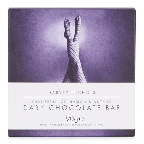 Harvey Nichols Cranberry, Cinnamon & Nutmeg Dark Chocolate Bar 90g