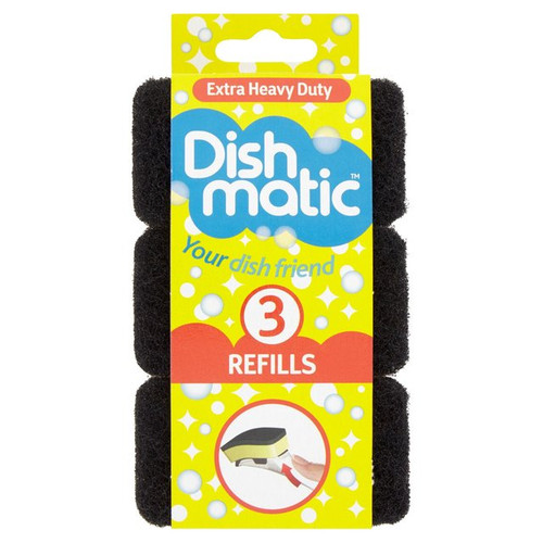 Dishmatic Extra Heavy Duty Refills 3 per pack