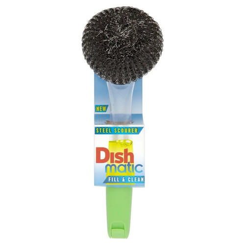 Dishmatic Filable Washing Up Brush with Steel Scourer