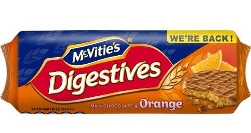 McVitie's Digestives Milk Chocolate & Orange 250g