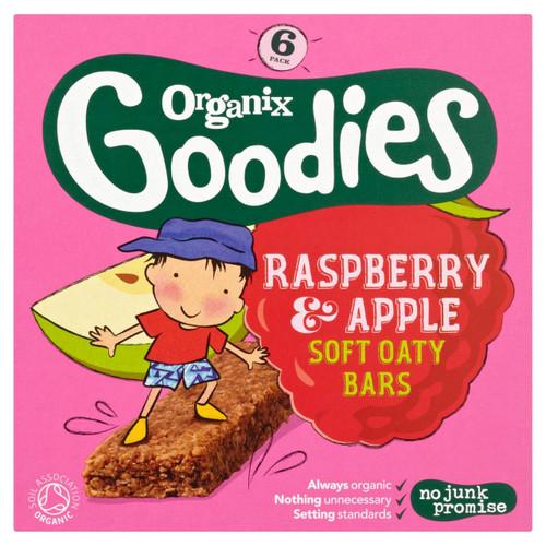 Organix Goodies Raspberry & Apple Oaty bars 6 x 30g