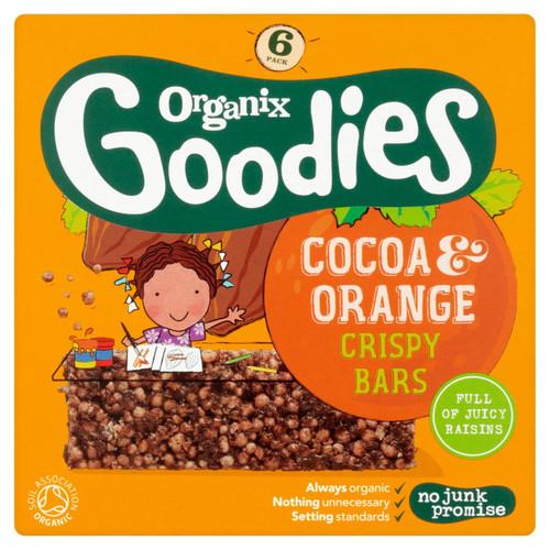 Organix Goodies Cocoa & Orange Crispy Bars 6 x 18g