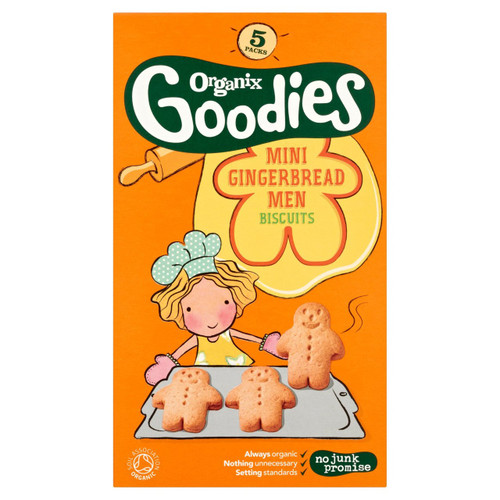 Organix Goodies Mini Gingerbread Men Biscuits 125g