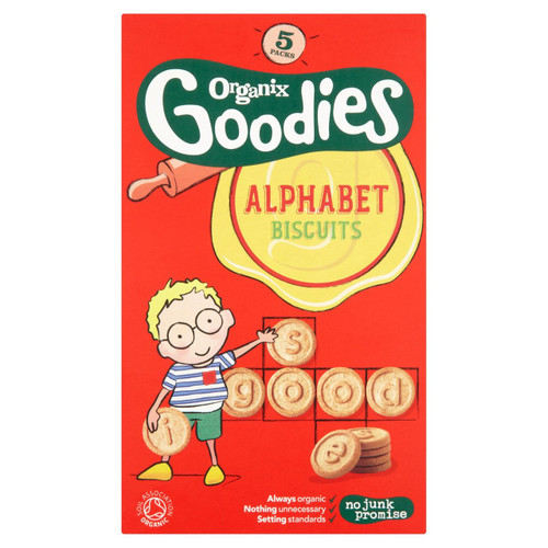 Organix Goodies Alphabet Biscuits 5 x 25g