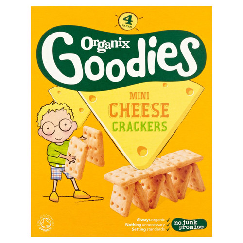Organix Goodies Mini Cheese Crackers 80g