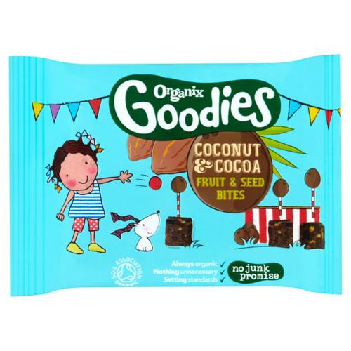 Organix Goodies Cocoa & Coconut Fruit Bites 20g
