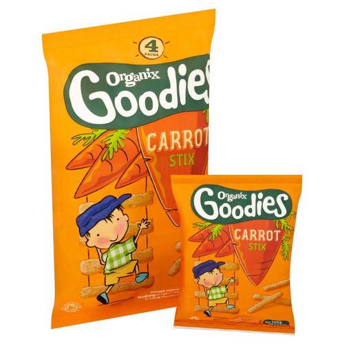 Organix Goodies Carrot Stix 4 x 15g