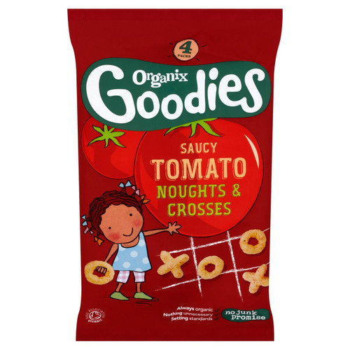 Organix Goodies Tomato Noughts & Crosses 4 x 15g