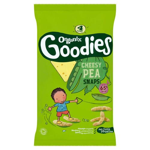 Organix Goodies Cheesy Pea Snaps Multipack 4 x 15g