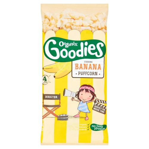 Organix Goodies Banana Puffcorn 12+ Months 4 x 10g