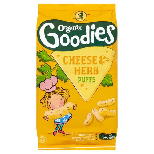 Organix Goodies Cheese & Herb Puffs 4 x 15g