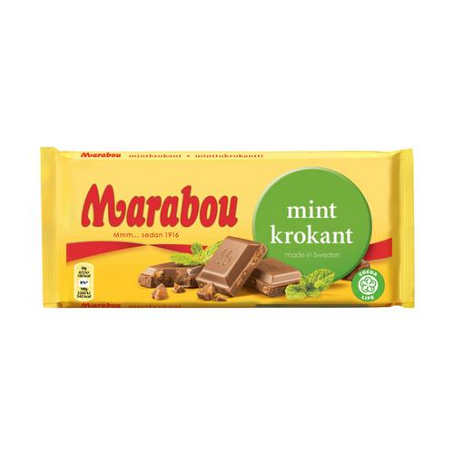 Marabou Mintkrokant Chocolate Mint Crisp 200g