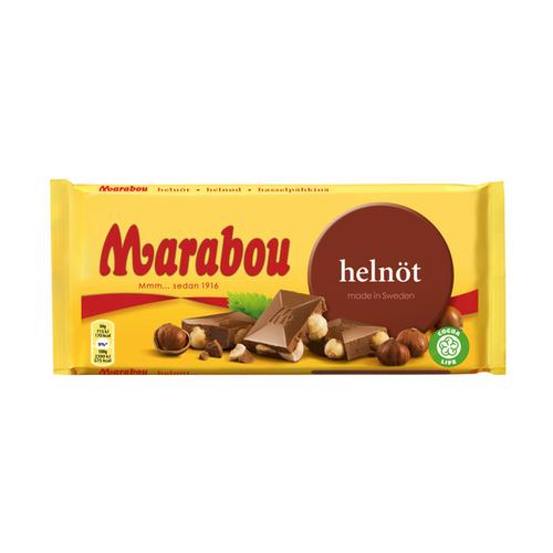 Marabou Helnöt Milk Chocolate With Whole Hazelnuts – 200g