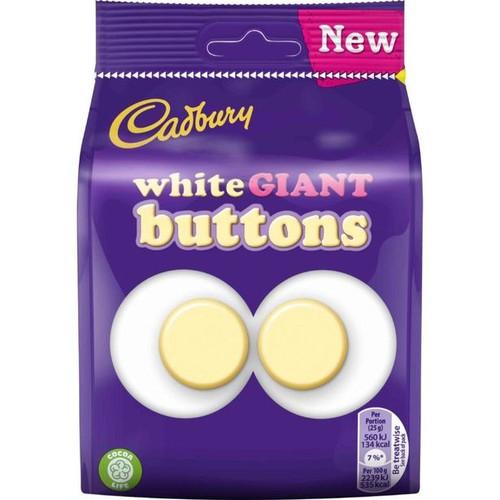 Cadbury White Buttons Giant Chocolate Bag 110g